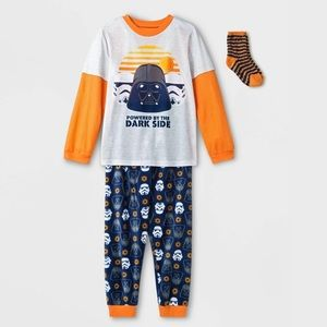 Disney Star Wars Orange Boy's Pajamas 3 Pcs Set
